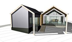 Lurie Concepts specialises in designing bespoke environmentally-friendly homes and renovations for clients throughout the South West and Perth. Sustainable Building Design, House Cladding, Modern Barn House, Modern Farmhouse Exterior, Shed Homes, Building A Shed, House Layouts, Simple House, House Plans