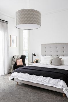 modern bedroom with best living room carpet and interior paint white bedroom master bedroom design size bed Master Bedroom Design, Home Decor Bedroom, Bedroom Ideas, Bedroom Designs, Bedroom Furniture, Girls Bedroom, Furniture Ideas, Master Bedrooms, Furniture Stores