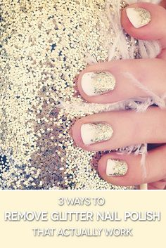 Remove glitter nail polish the EASY way