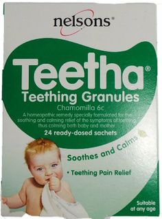 Nelsons Teetha Teething Granules - These don't do wonders but they distract Ben briefly in the in between period where he can't have any teething gel or calpol.