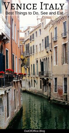 Venice Italy is a floating city of small streets, bridges, canals, timeworn buildings, strings of laundry, window boxes of flowers, cafes and little bookstores. Plan your trip using this collection of the best things to do, see and eat while visiting Venice. #Venice #Italy #Travel