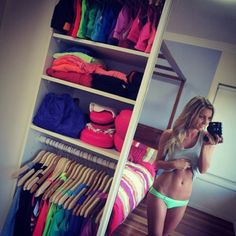 The kind of closet I want! Full of fitness clothes #fitness #fit #workout clothes
