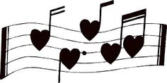 ArtbyJean - Vintage Sheet Music: Musical notes with little hearts
