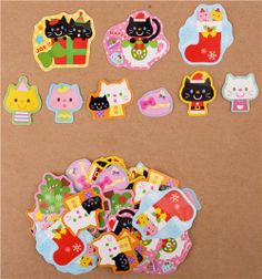 Christmas cats #Christmas sticker sack from Japan