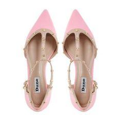 DUNE LADIES HETI - Stud Detail Pointed Flat Shoe - pink | Dune Shoes Online