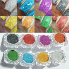 Nail Glitter  1.5g/bottle Holographic Laser Nail Glitter Powder Rainbow Color Shiny Nail Glitters Manicure Chrome Pigments Holographic Glitter <3 Click the VISIT button to find out more
