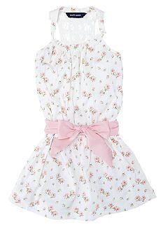 Ralph Lauren Childrenswear Floral Crochet Dress Toddler Girls