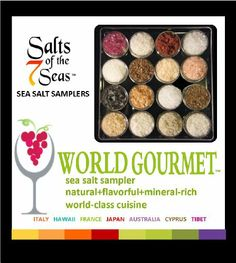 The Gourmet Sea Salt Sampler - Divine Gifts & Candy