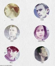 Divergent characters names and faces