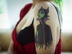 Disney's Maleficent Tattoo. I never liked the princesses I was always about the witches and villains.