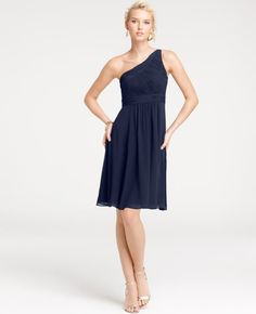 Navy Blue Bridesmaids Dresses from  @Ann Taylor.  Perfect for a seaside fete! @Style Me Pretty