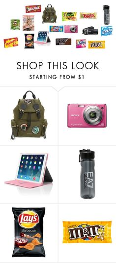 """""""going to travel part 2"""" by moree-sabra ❤ liked on Polyvore featuring Burberry, Sony, Hard Candy and EA7 Emporio Armani"""