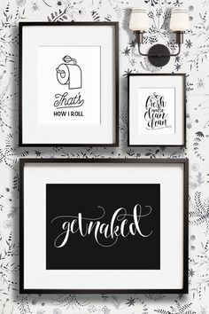 Funny bathroom wall decor art prints - Printable art and prints from The Crown Prints