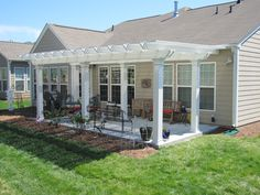 Why Hon File Cabinets Are The Only Option For Your Property Or Office Coolbreeze Freestanding Deluxe Aluminum Pergola. All Extruded Aluminum Construction. Pergola Patio, Pergola Kits, Backyard Landscaping, Pergola Ideas, Patio Ideas, White Pergola, Wood Pergola, Gazebo, Porch Ideas