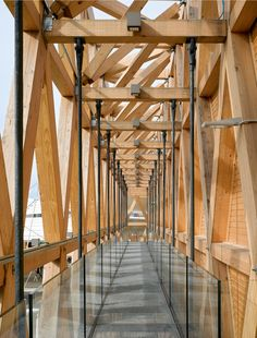 New wood structure architecture plan Ideas Timber Architecture, Architecture Details, Expo Milano 2015, Expo 2015, Painted Wood Walls, Timber Structure, Into The Woods, Wood Detail, Roof Design