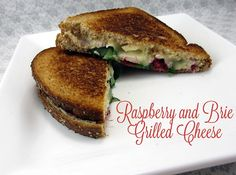 Raspberry and Brie Grilled Cheese