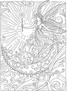 Here are the Popular Coloring Pictures Of Fairies Coloring Page. This post about Popular Coloring Pictures Of Fairies Coloring Page was posted . Angel Coloring Pages, Printable Adult Coloring Pages, Cute Coloring Pages, Mandala Coloring Pages, Coloring For Adults, Coloring Book Art, Creative Haven Coloring Books, Mermaid Coloring, Dover Publications