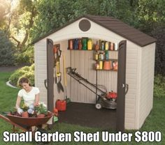 Lifetime 8 x 5 ft Outdoor Storage Shed with Window 6406 & 25 best Houston Sheds Garden Sheds TX. FREE Shipping http ...