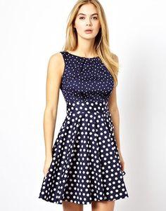 Bild 1 von Closet – Ausgestelltes Kleid mit Punkten
