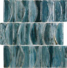 blues 'groove' tile by avenue mosaics