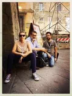I tre fondatori di Phom, Mariateresa dell'Aquila, Marco Benna e Gabriele Magazzù al festival On The Move di Cortona - 2018. Festival, Fair Grounds, Culture, Photography, Travel, Fotografia, Photograph, Viajes, Fotografie