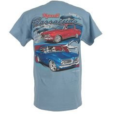 Muscle Car Apparel and Gifts - Barracuda T Shirt - Plymouth Cuda, $19.95 (http://www.musclecarapparel.com/barracuda-t-shirt-plymouth-cuda.html)