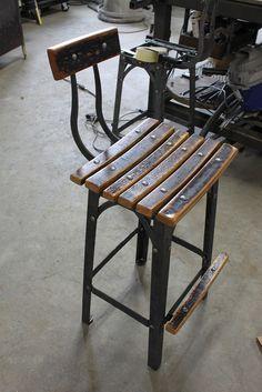 fini ?! Bourbon stool waiting for final inspection...