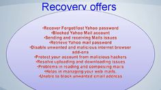 Forgot/lost Yahoo Password - Yahoo Mail Password Recovery Phone number
