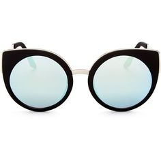 Quay Last Dance Rounded Cat Eye Sunglasses, 53mm (260 SAR) ❤ liked on Polyvore  featuring accessories, eyewear, sunglasses, rounded sunglasses, ... 0805d7654e48