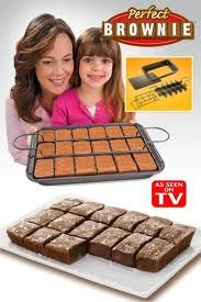 Perfect Brownie!  Makes 18 individual brownie bars without cutting because everyone loves the corner pieces! So hard to clean you'll want to slit your wrist 18 times!