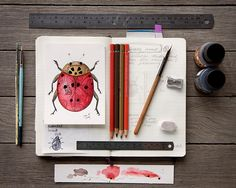 Watercolor journal, watercolor and ink, watercolor paintings, painting &amp Art Lessons, Art Journal Inspiration, Sketch Book, Travel Sketchbook, Watercolor And Ink, Sketchbook Journaling, Art Journal, Art Tutorials, Book Art