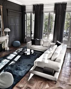 Luxury living rooms can exist in your room but you can change a lot, here I give you these interior design ideas to decorate your living room ideas Black Interior Design Living Room, Living Room Designs, Living Room Decor, Living Spaces, Interior Decorating, Interior Ideas, Living Rooms, Interior Livingroom, Luxury Home Decor