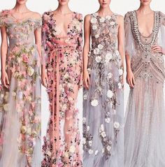 Bridesmaid Dresses, Prom Dresses, Formal Dresses, Embroidery Dress, Marchesa, Alter, Catwalk, Wedding Gowns, What To Wear