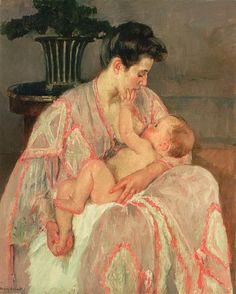Mary CASSATT «Mère et enfant» ou «Mère allaitant son enfant»