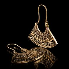 Tribal brass earring gypsy hoops brass hoops ethnic by TRIBALIK