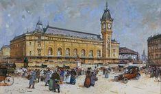 Paris, La Gare de Lyon, Eugène Galien-Laloue