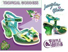 Irregular Choice Tropical Goddess Ornate Emerald Green Heels UK5/ EU38 Last Pair #IrregularChoice #StrappyAnkleStraps