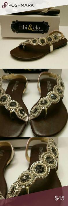 968b1ce2f859 Fibi and Clo New York Smoke Cascade Flat Sandal New ladies flat sandal. fibi  Shoes