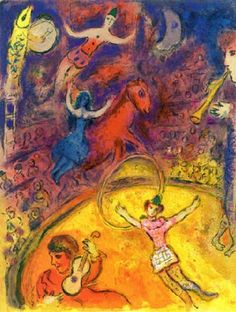 View from Le Cirque by Marc Chagall on artnet. Browse upcoming and past auction lots by Marc Chagall. Marc Chagall, Chagall Paintings, Atelier D Art, Circus Art, Circus Poster, Art Textile, Oil Painting Reproductions, Pablo Picasso, Art Plastique