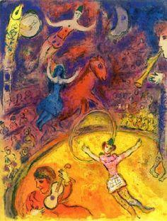 Marc Chagall - Le Cirque, Plate XXIV. Color Litograph.