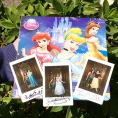 One of my birthday gifts was a polaroid camera so I thought it would be a good idea to take a photo and have the princess sign them! Love how they came out can't wait to hang them on my wall! Another cute idea that I did was to get a small princess book and have it signed by princesses I got all the princess except Aurora. Thought I would share my Disney ideas! Hope you guys like them! #disneyland #mydisneyideas #photos #autographs #mydisney #princess #ariel #cinderella by shadows13bows