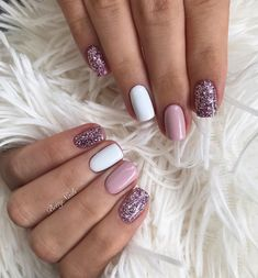 Sassy Nails, Trendy Nails, Cute Nails, Glam Nails, Pink Nails, Pink Nail Art, Do It Yourself Nails, Gelish Nails, Short Nail Designs