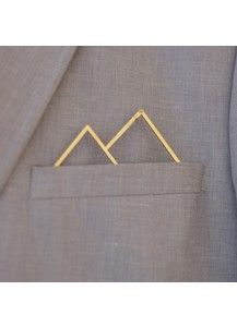 POCKETMEN - 'No Mountain' high tech pocket-square pochetten