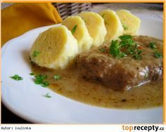 Myslíme si, že by sa vám mohli páčiť tieto piny - Czech Recipes, Ethnic Recipes, Slovakian Food, Meat Recipes, Cooking Recipes, Modern Food, Potato Cakes, Food 52, Easy Cooking