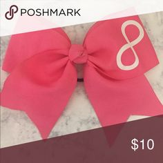 Infinity sign cheer bow 🚨Will ship next day'🚨 adorable pink bow! Accessories Hair Accessories