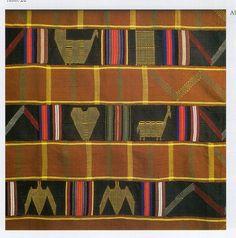 Detail: Ewe men's cloth, collected by E. Gutschow, 1910 in Keta, Ghana. Museum fur Volkerkunde, Dresden.