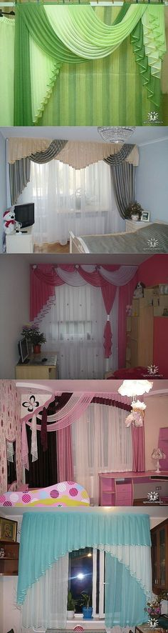 I'm a sucker for this amazing photo Curtains And Draperies, Hanging Curtains, Kitchen Curtains, Drapes Curtains, Valances, Drapery, Curtain Designs, Curtain Styles, Rideaux Design