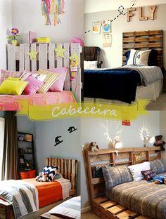 Resultado de imagem para cama de paletes  quartos incriveis