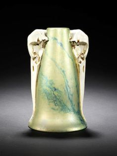 Laszlo Mattyasovszky for Zsolnay A Symbolist Vase with Bird Skulls, 1900
