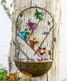 Look what I found on #zulily! Metal Bird Fountain #zulilyfinds
